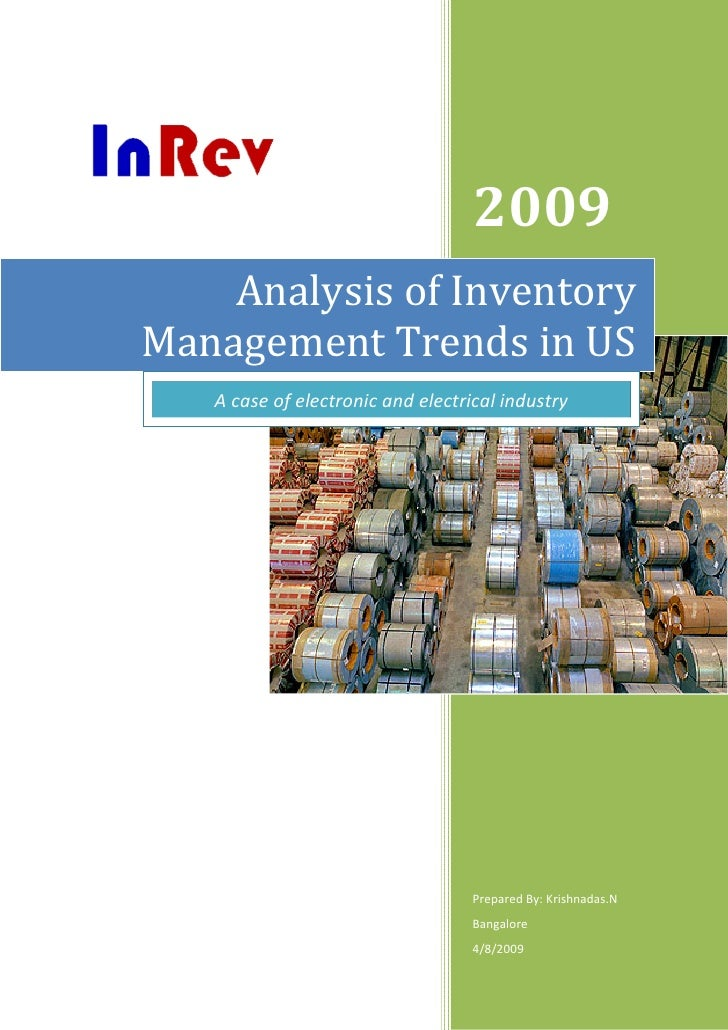 CASE STUDY Best Practices in Inventory Management