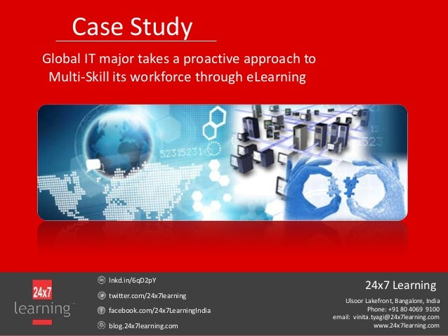 Case StudyGlobal IT major takes a proactive approach toMulti-Skill its workforce through eLearninglnkd.in/6qD2pYtwitter.co...