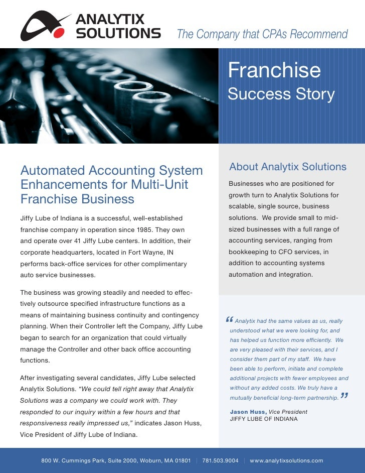ANALYTIX                  SOLUTIONS                          The Company that CPAs Recommend                              ...