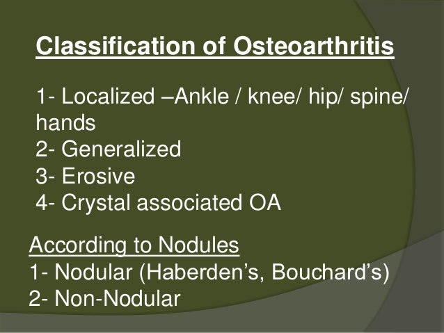 Case study osteoarthritis with a total