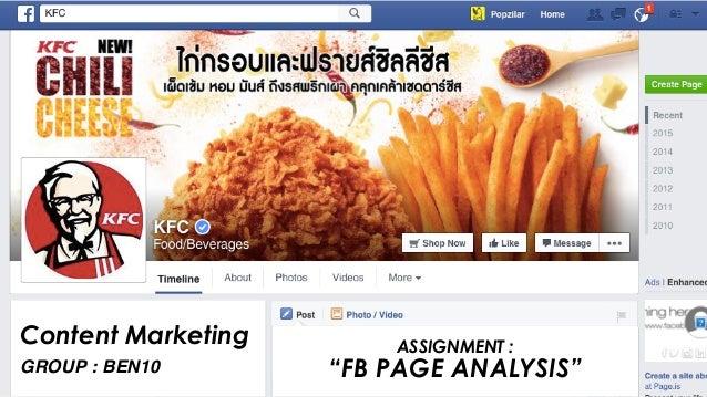 Facebook Page Analysis : KFC Thailand Slide 2