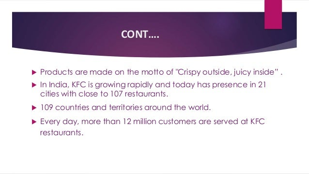 Kfc Problems Faced in India Case