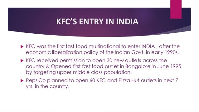 case study of kfc Read this essay on case study 1 - kfc in india come browse our large digital  warehouse of free sample essays get the knowledge you need in order to pass.