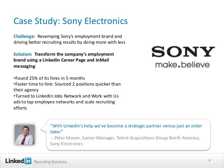 sony case study strategy Sony swot analysis | five forces analysis of sony | pest analysis of sony | strategic group analysis of sony in lg case, the company would have to spend a lot of money on the marketing campaign to change the perception of the products and invest in r&d to actually change the product to a higher.