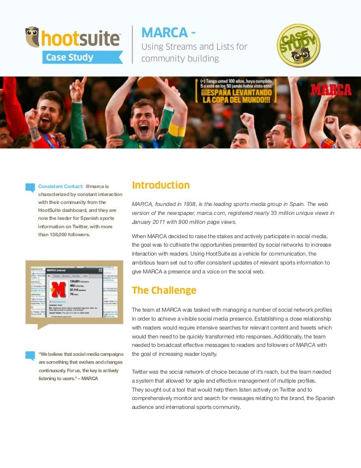 MARCA scores with HootSuite -- A @marca Case Study