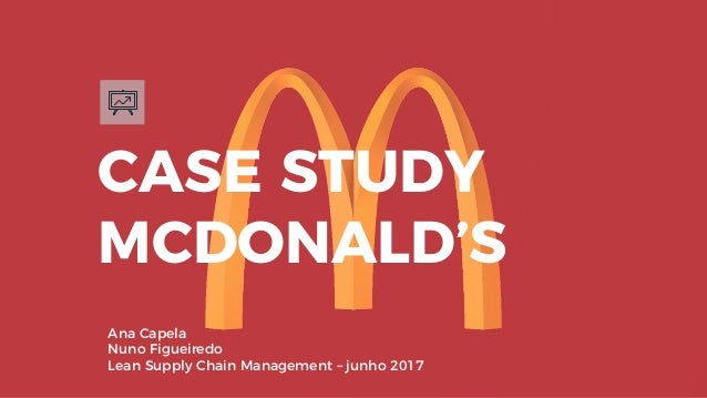 CASE STUDY MCDONALD'S Ana Capela Nuno Figueiredo Lean Supply Chain Management – junho 2017