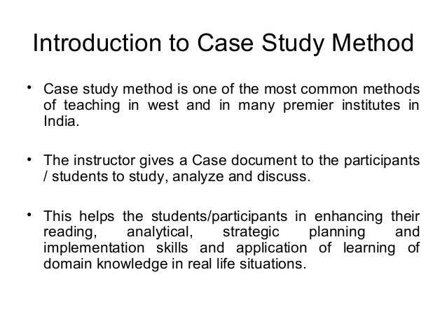 The Case Study Method in Training and Management Education ...