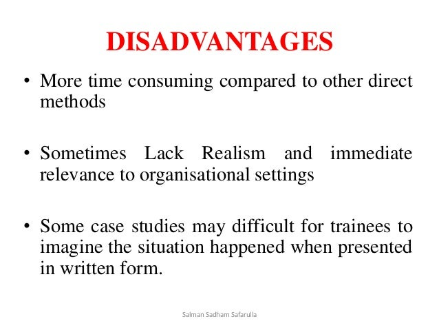 disadvantages of case study teaching method Disadvantages of case study some teachers may be reluctant to change to this new teaching modules  a claim for the case method in the teaching of geography.