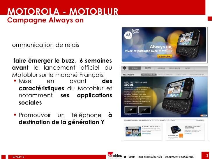 Arnaud Calonne, Co-fondateur, agence Adrider, pour Motoblur de Motorola Slide 3