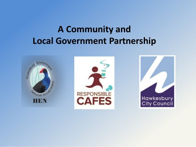 A Community and Local Government Partnership