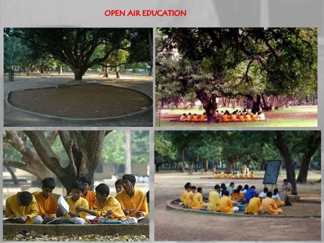 Shantiniketan a case study of freely developed campus by for Shantiniketan tagore