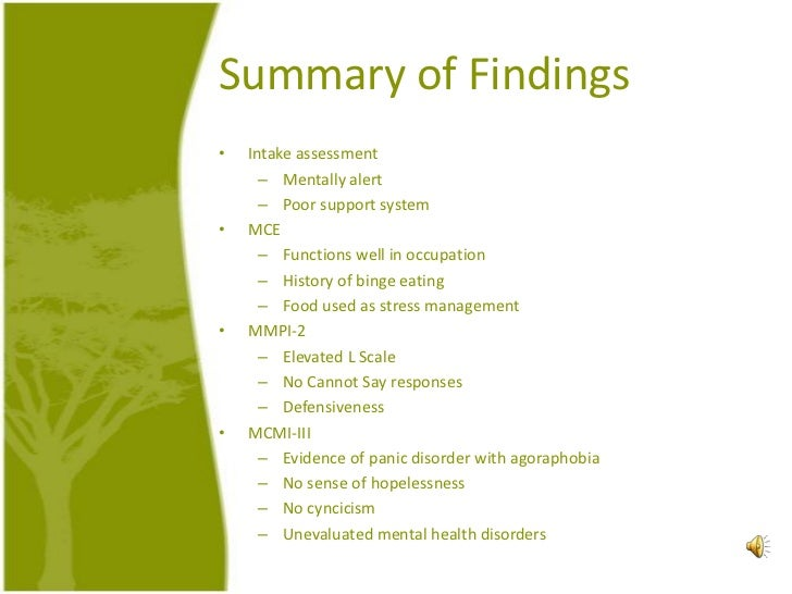 Mmpi case study
