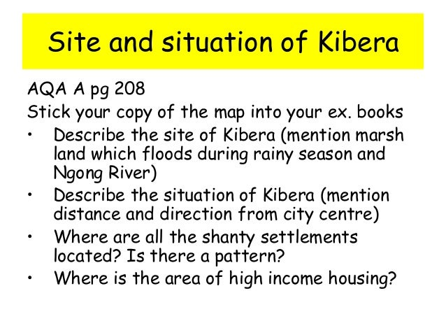 kibera case study facts