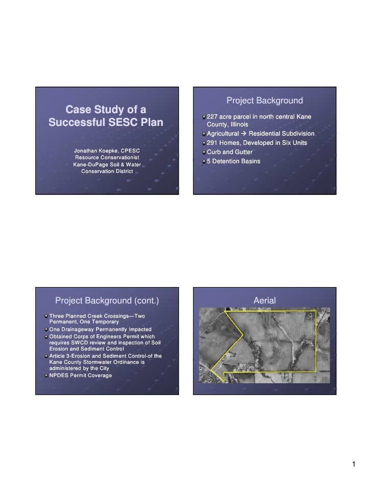 Project Background   Case Study of a                                                  227 acre parcel in north central Kan...