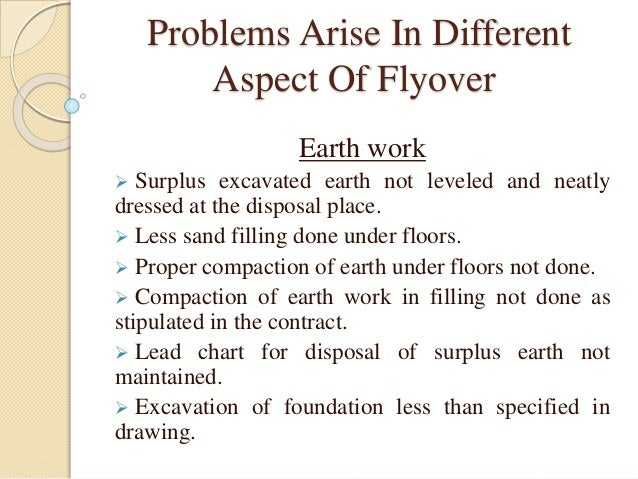 Earth Filling Work : Flyover and bridge problems its solutions