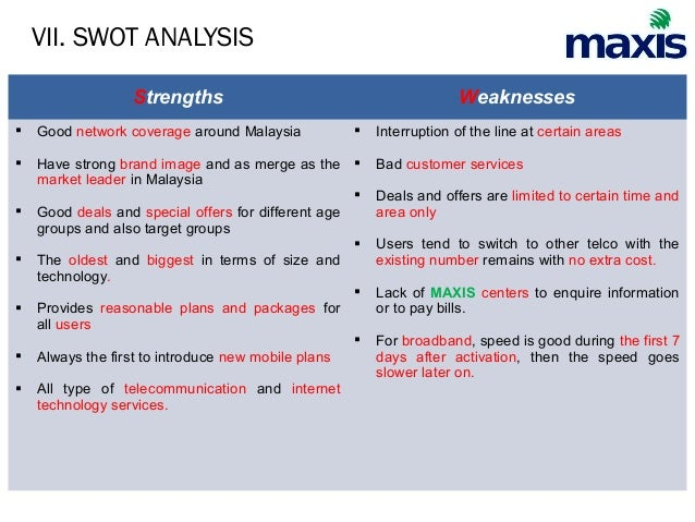 maxis swot 2015-6-11 check out our top free essays on maxis swot to help you write your own essay.