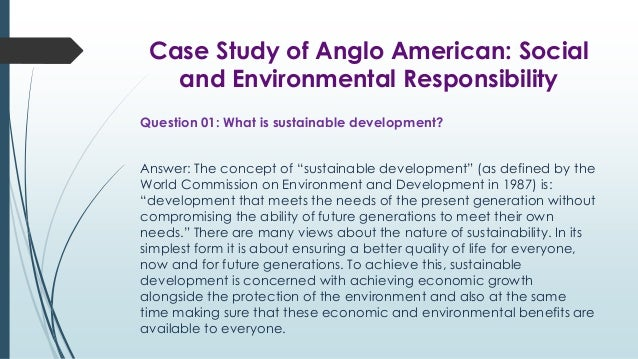 Who are the various stakeholders that anglo american needs to consider