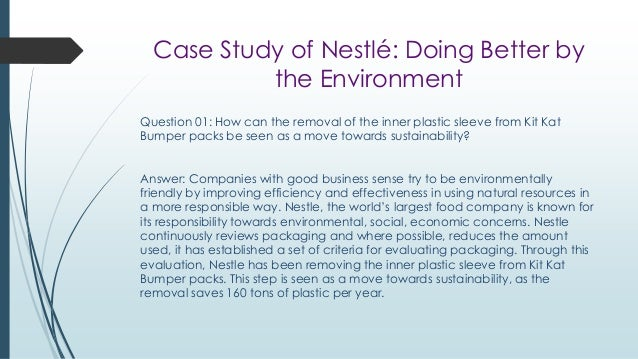 case study nestlé struggles with