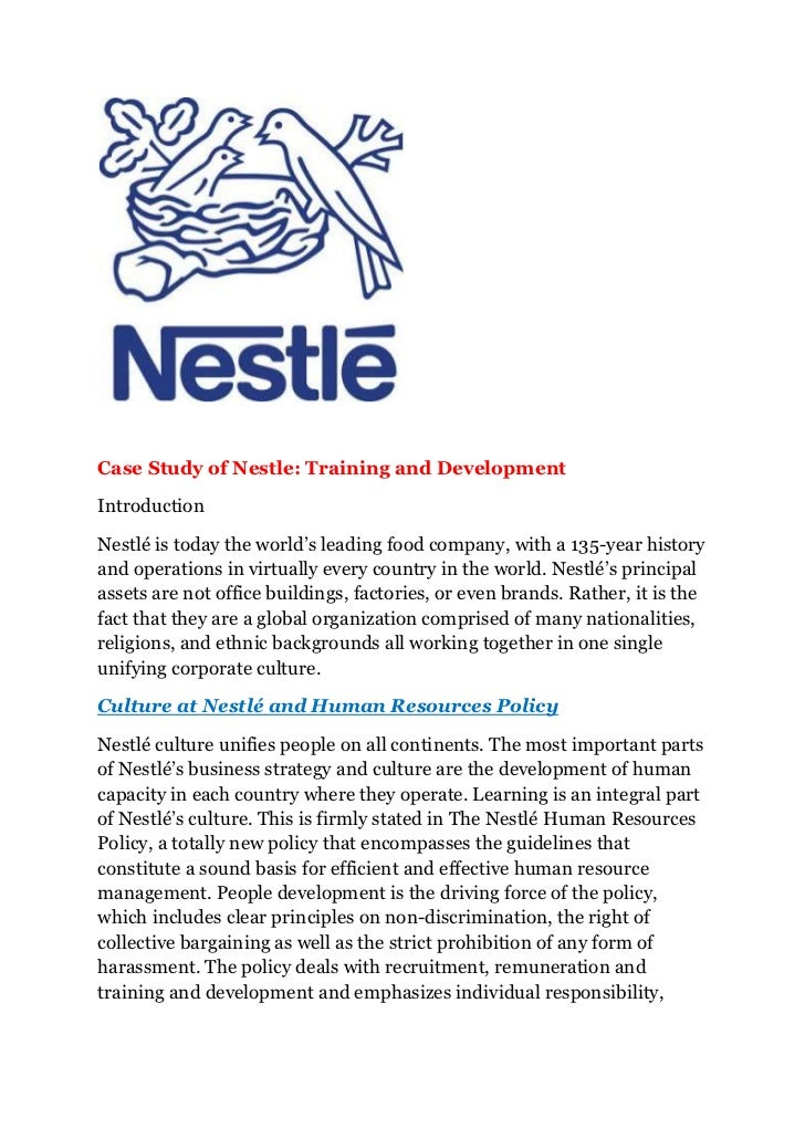 Case study of nestle training and development yadclub Gallery
