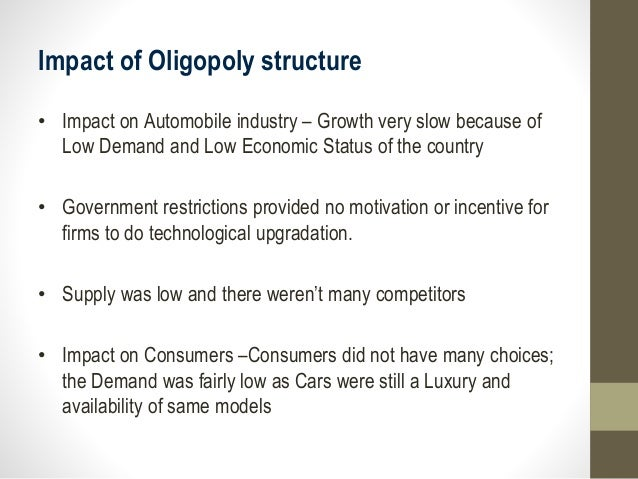 car industry oligopoly Monopolistic competition and oligopoly 437 topic: product   industry is a) wheat farming b) the automobile industry c) phone service.