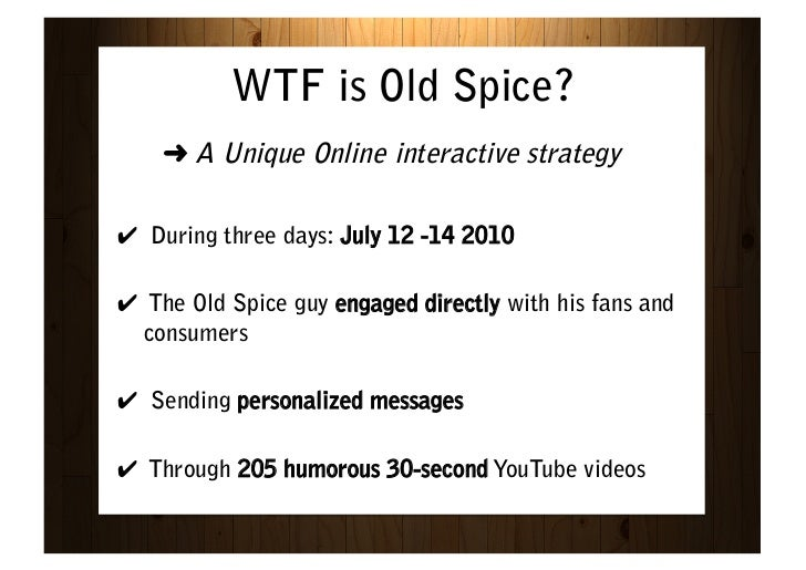 old spice case study analysis