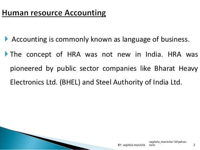 Human Resource Accounting in Bhel