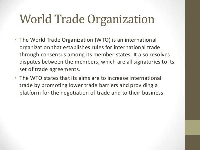 Fundamental principles of wto trading system