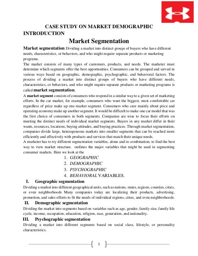 a discussion on market segmentation Market_segmentationpdf - download as pdf file (pdf), text file (txt) or read online marketing segmentation with focus on international markets accompanying discussion of customer lifetime value (clv) and a thought process that makes the clv calculation explicit (see gupta and lehmann.