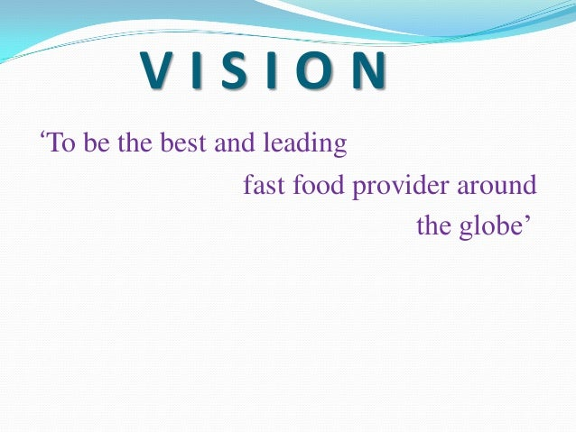 McDonald's Mission Statement & Vision Statement (An Analysis)