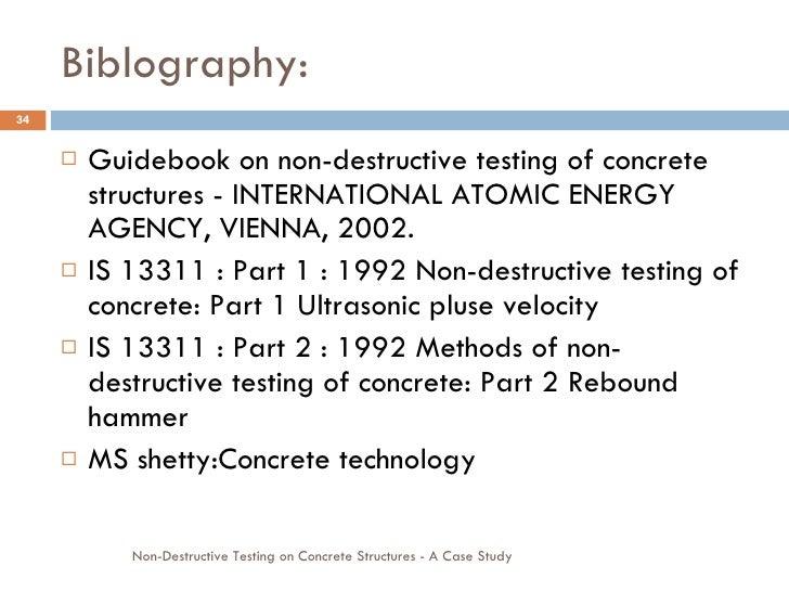 Case Study On Non Destructive Testing On Concrete Structures