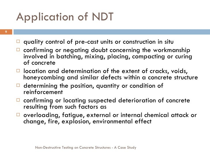 Application Of NDT ...