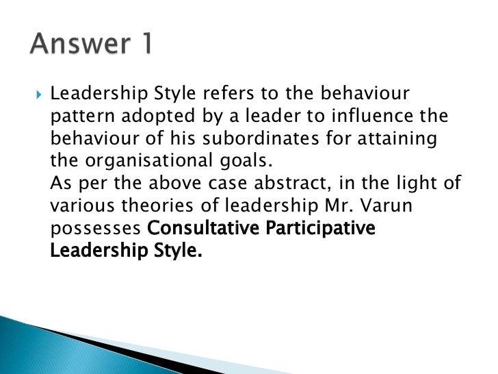 case study answers organisational behaviour