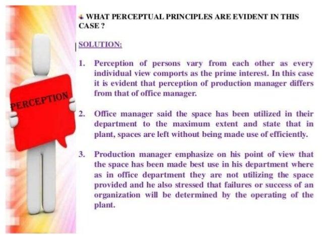 Case Study Perception In Organizational Behavior - Case ...