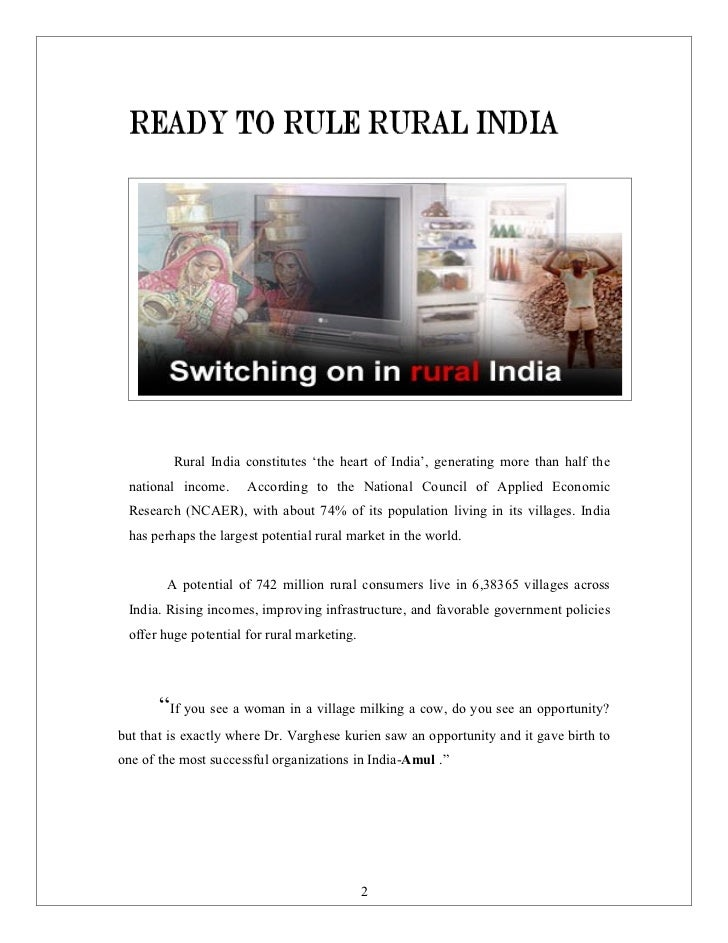 case study of rural marketing Itc rural marketing in india case study discuss itc rural marketing in india case study within the marketing management forums, part of the publish / upload project.