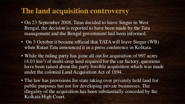 case study on singur tata nano More than a year after west bengal chief minister mamata banerjee gave back to  farmers the land on which tata's nano car plant was built,.