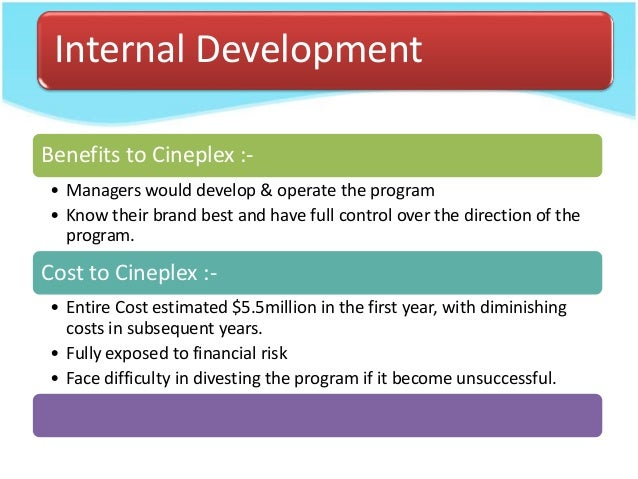 cineplex entertainment the loyalty program case analysis Through its operating subsidiary cineplex entertainment lp, cineplex operates 162 theatres and restaurants (such as outtakes and poptopia) it is also a joint partner in the scene loyalty program with scotiabank history 1912 cineplex entertainment acquired (or in this case, re.