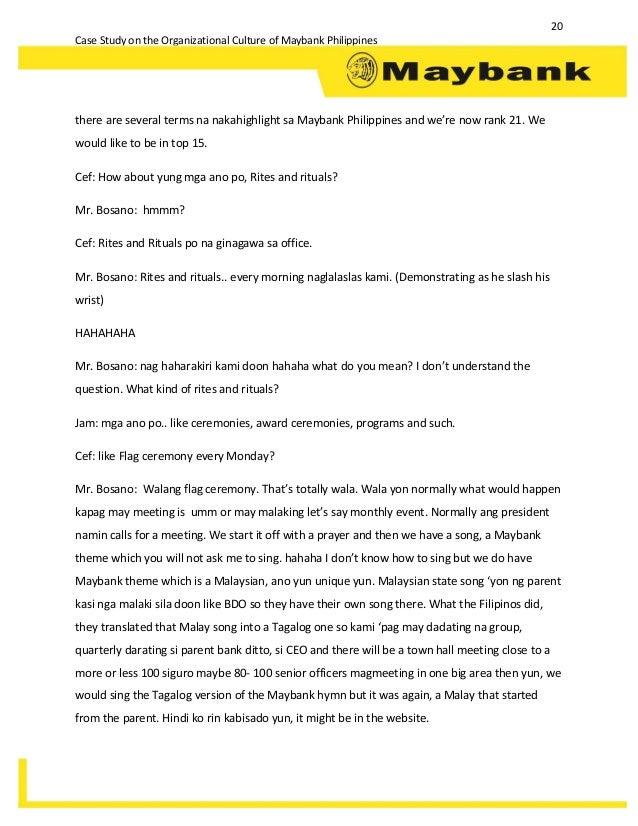 organizational culture case study pdf