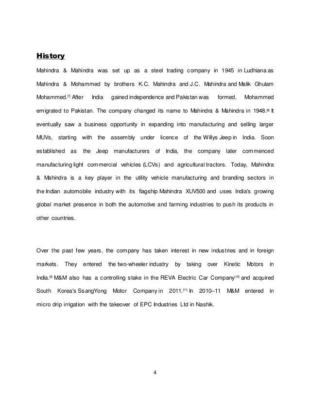 Mahindra & Mahindra: Implementing BPR