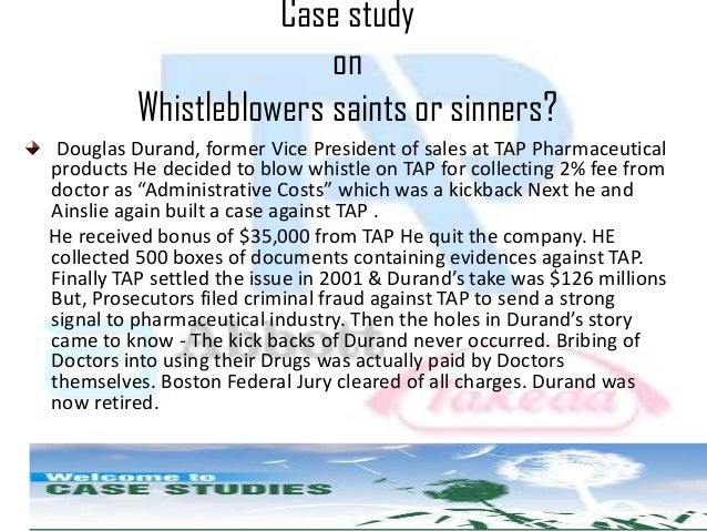 whistleblowing case studies