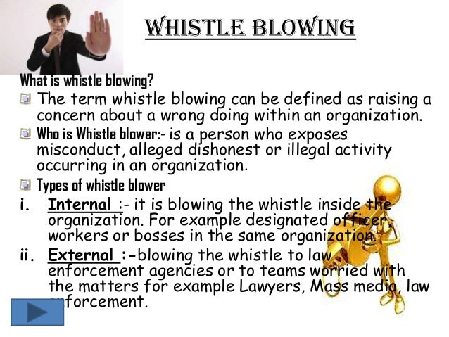 the treatment of whistleblowers essay
