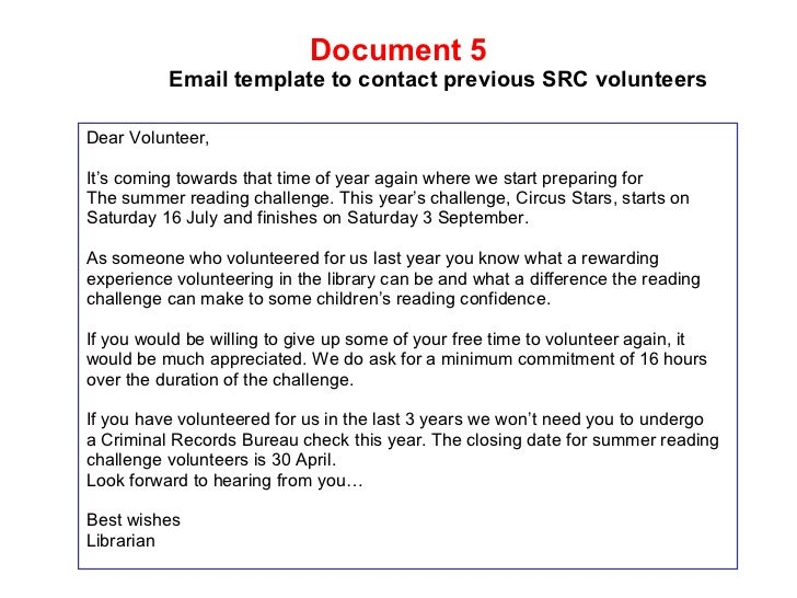 free sle study recruitment email template by case study on working with volunteers at chippenham