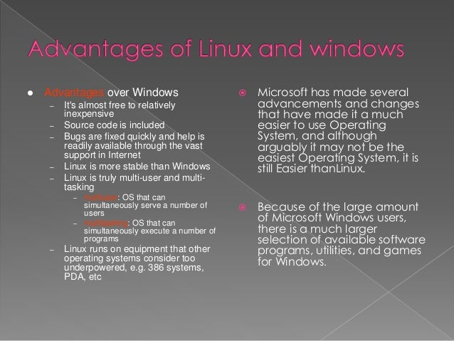 difference between unix and windows operating system in tabular form
