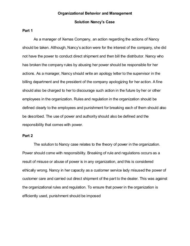 Organizational Development Case Study - Words | Case Study Example