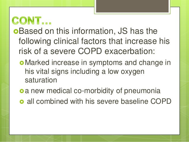 COPD: a Clinical Case Study - UK Essays | UKEssays