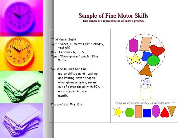 Fine motor skills checklist for preers for Fine motor skills assessment checklist
