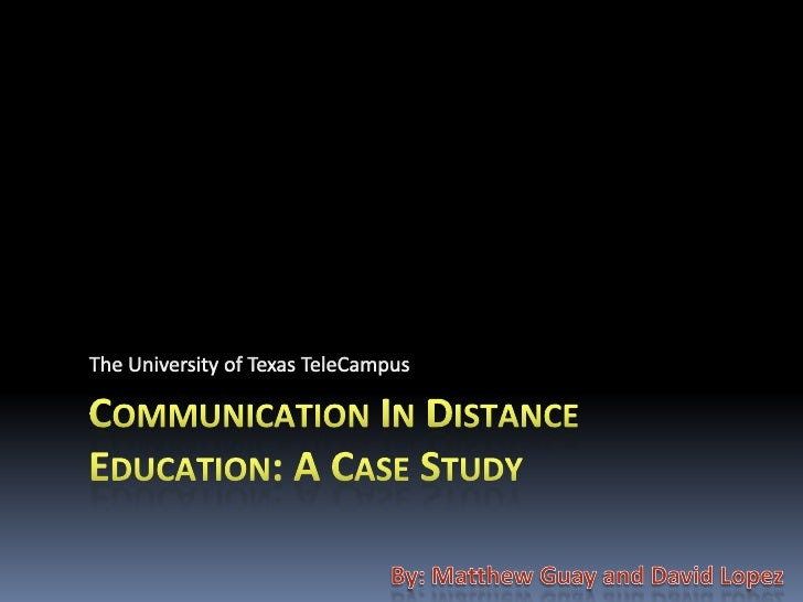 Based on a report from  Anderson Consulting and     visits to experienced distance education colleges across America, the ...