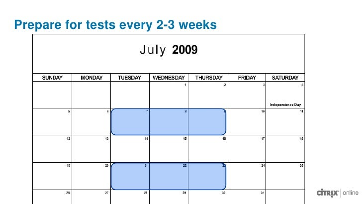 Schedule tests in a 2-3 day window<br />Pilot Test<br />Pilot Test<br />