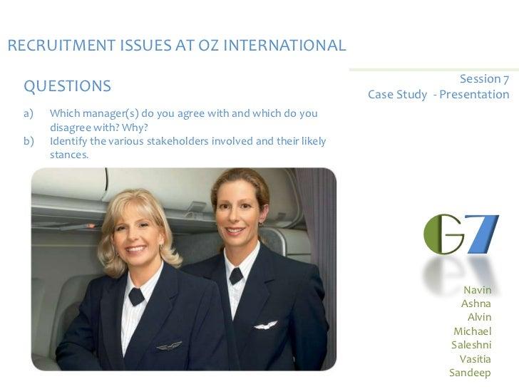 RECRUITMENT ISSUES AT OZ INTERNATIONAL                                                                                    ...