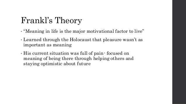 case study logotherapy He was the founder of logotherapy and existential analysis, the third   frankl's case for a tragic optimism uses this philosophy to.