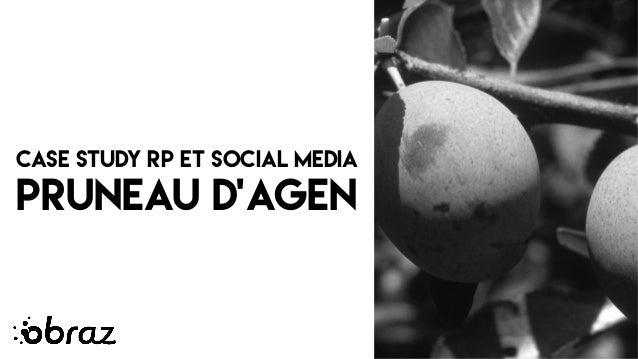 CASE STUDY RP ET SOCIAL MEDIA PRUNEAU D'AGEN